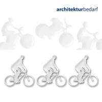 Radfahrer 1:50, transparent klar