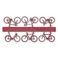 Bicycles, 1:100, darkred