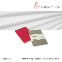 Skizzenheft Sketch & Note, Grey-Fuchsia A6 hoch