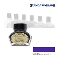 Zeichentusche 30 ml Glas, violett