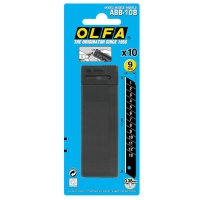 Olfa 10 schwarze Abbrechklingen 9mm
