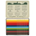 Polychromos Color Pencil, short - Metal Case with 12 Colors
