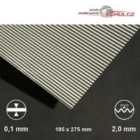 Aluminium-Wellblech, Welle 2 mm