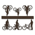 Bicycles with Cyclists, 1:100, darkbrown