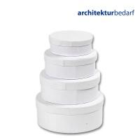 Schachteln aus weißem Karton, oval