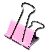Fold Back Clips 41 mm, light pink