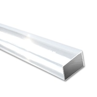 ASA Rectangular Tubes, ext. 4 x 2 mm, transparent white
