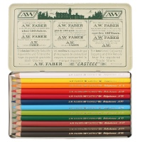 Polychromos Color Pencil - Metal Case with 12 Colors