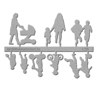 Figure Set Children, 1:50, light grey
