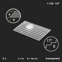 Treppenplatte 17°, transparent, 1:100