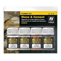 Vallejo Pigment Set Stone & Cement, 4er Pack