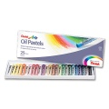 Oil Pastels Set 25 pcs. with Drawing Paper
