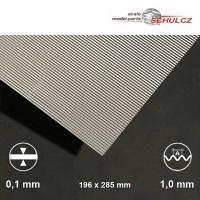 Aluminium-Wellblech, Welle 1 mm