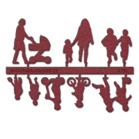 Figure Set Children, 1:50, dark red