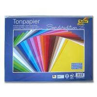 Tonzeichenpapier 130g/m² DIN 25 x 35 cm, farbig sortiert