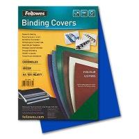 Fellowes Chromolux Cover Sheets, blue