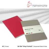 Skizzenheft Sketch & Note, Grey-Fuchsia A3 hoch