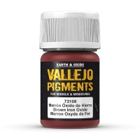 Vallejo Pigment Brown Iron Oxide 30ml