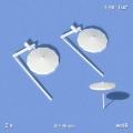 Sunshade, white, 1:50, ø 45 mm