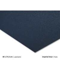 Laserkarton 48 x 63 cm, imperial blue