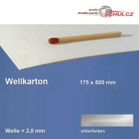 Wellkarton, silberfarben 2 mm Welle