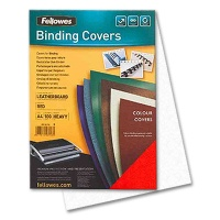 Fellowes Cover Sheets Leather Structure A4, white