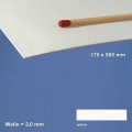 Corrugated Paperboard, white 3 mm Flute