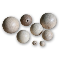 Assortment of Wooden Balls, Diameter 6 - 40 mm