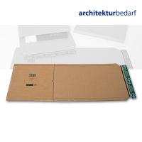 Buchverpackung A3 braun/braun