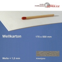 Wellkarton, dunkelgrau 1 mm Welle