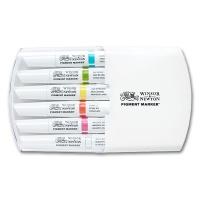 Pigment Marker 6er Set lebendige Töne