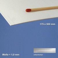 Corrugated Paperboard, silver 1 mm Flute