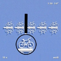 Bicycles 1:50, white, Pack of 10
