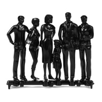 Modellfiguren 1:25 stehend, schwarz