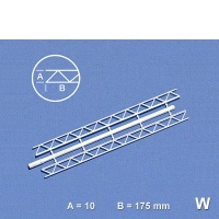 Trussed Girder, 10 x 175 mm, white