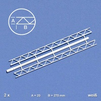 Trussed Girder, 20 x 275 mm, white