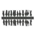 Figures, 1:200, dark grey