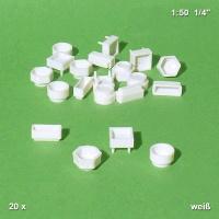 Pflanzenbecken 1:50, weiß, 20er Pack