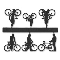 Bicycles with Cyclists, 1:100, black