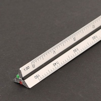Aludreikantmaßstab 195S/DIN/30 - 30 cm