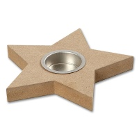 Wooden Tealight Holder Star