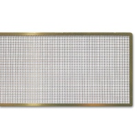 Square Perforate Plate, Brass 4,5 x 30 cm
