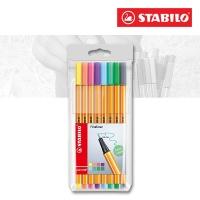 Stabilo Point 88 - 8er Etui Pastellfarben