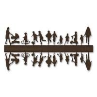 Figure Set Children, 1:100, dark brown