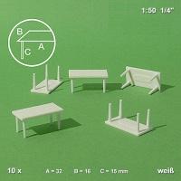 Tische 1:50, 10 Stück