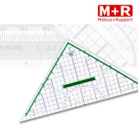 M+R Geometriedreieck 32 cm mit Griff
