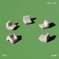 10 Sessel, weiß, Sockel