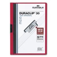 Klemmmappe Duraclip 30 - A4 rot