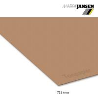 Tonzeichenpapier 130g/m² DIN A4, 72 kokos