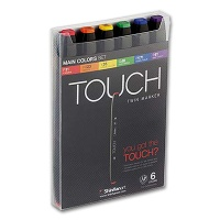 Touch Twin Marker 6er Fluorescent Colors